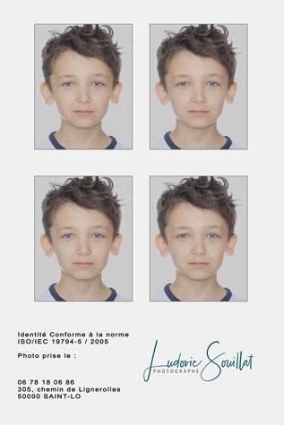photos d'identité enfant, bébé, nourrisson à Saint-Lô