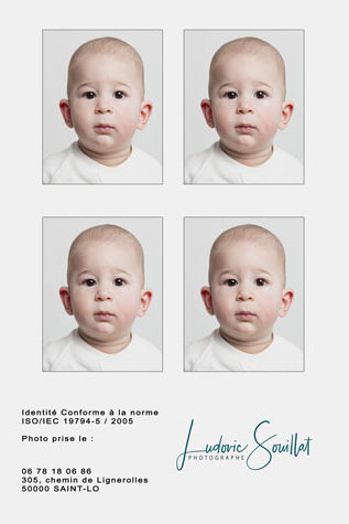 photos d'identité nourrisson, bébé à Saint-Lô